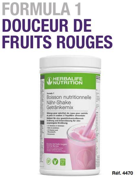 Douceur de Fruits Rouges Shake FORMULA 1 550g (21 portions)