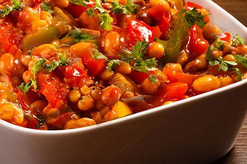 Chakalaka z pomidorami oraz ryzem