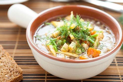 Parzybroda - wiosenna zupa z mloda kapusta, swiezym koperkiem