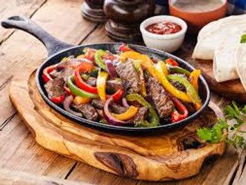 Fajitas z wieprzowina warzywami i ryzem