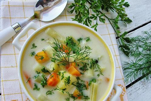 Wiosenna zupa z mlodej kapusty z swiezym koperkiem