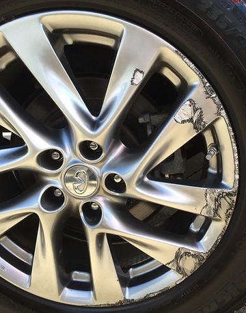 Curb rash damaged wheel repair