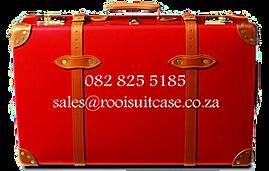 Vintage Floor   Rooi Suitcase