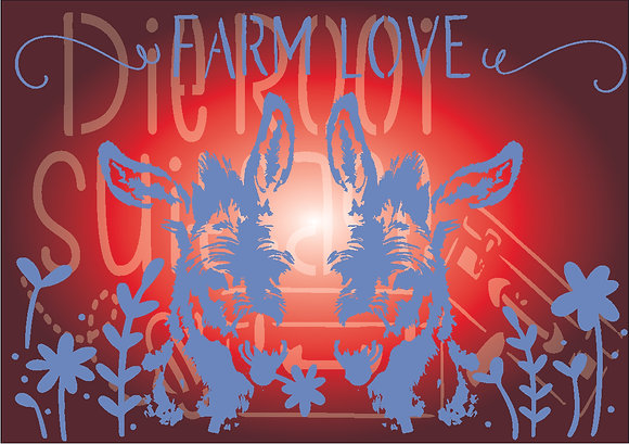 Farm Love Donkey