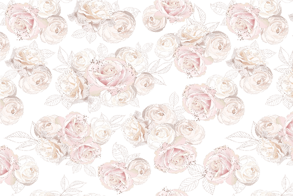 "Jardin De Roses - 89x59cm (35x23"") Landscape (Seamless Pattern)"