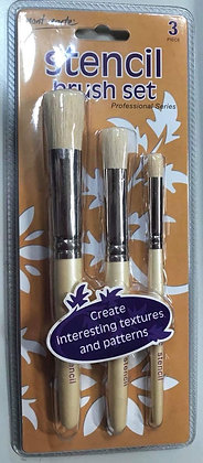 Professional Stencil Brush 3 pack