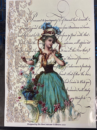 French lady with lace