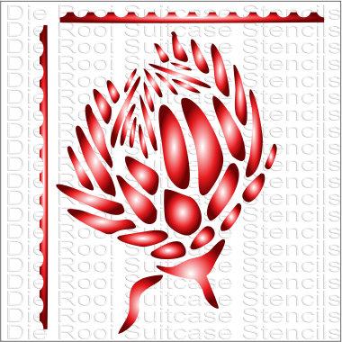 Protea 10x10cm