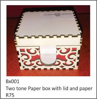 Two Tone Paper Box With Lid and Paper