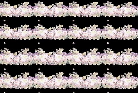 "Roses Merveilleuses - 89x56cm (35x22"") Landscape (Seamless Pattern)"