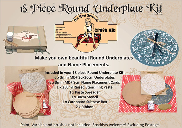 18 Piece Round Underplate Kit