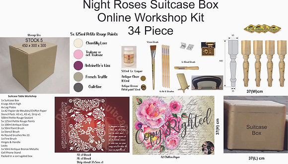 Night Roses Suitcase Box  Online Course