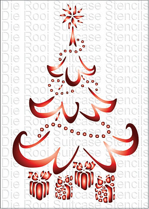 Christmas tree with presents A6