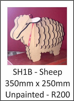 Sheep 350mm x 250mm Unpainted