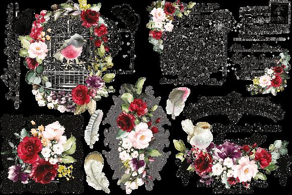 """Cage A Oiseaux - 88x59cm (35x23"""") Landscape (Cuttable Design)"""
