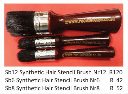 Synthetic Hair Stencil Brush