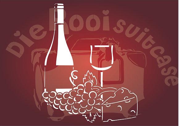 Wine Bottle & grapes