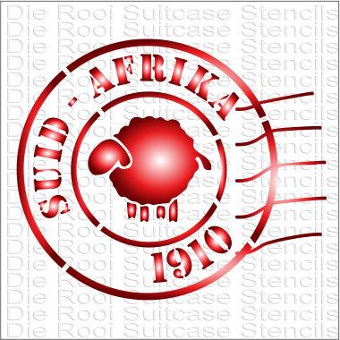 Suid Afrika 1910 Stamp 10x10cm