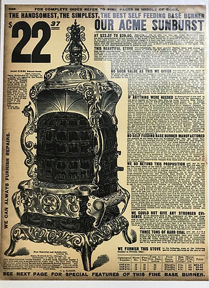 Acme Old Stove Advert 1907