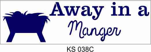 Away in a Manger 33x10cm