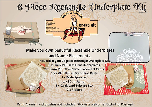 18 Piece Rectangle Underplate Kit