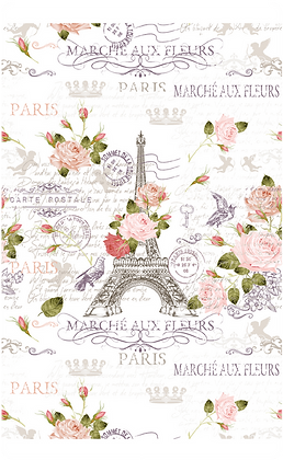 "Marche Paris - 59 X 88cm (23x35"") Portrait (Seamless Design)"