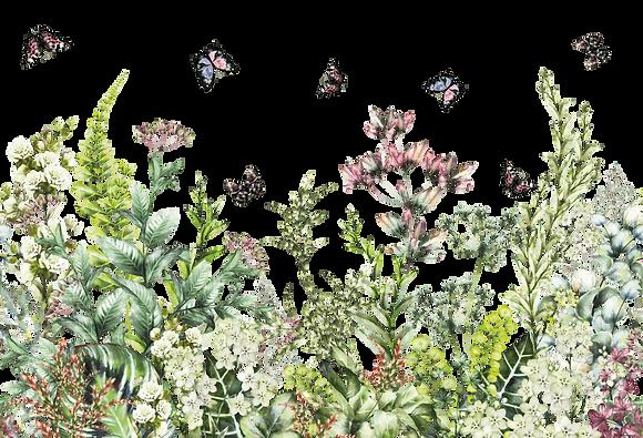 """Marvellous Gardens - 89x57cm (35x22"""") Landscape (Solid Design)"""
