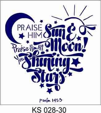 Praise Him 30x30cm