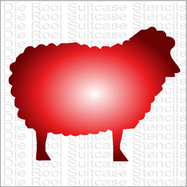 Sheep 10x10cm