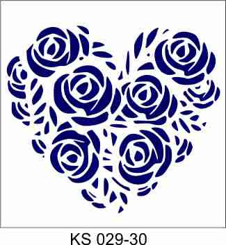 Rose Heart 30x30cm