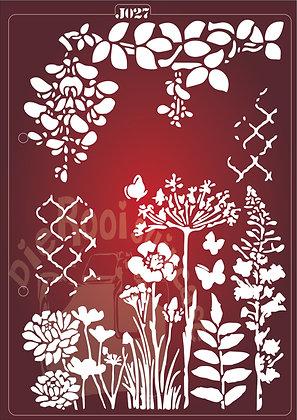 J027 Flowers Journaling Stencil