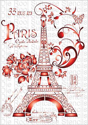 Paris Eiffel Roses