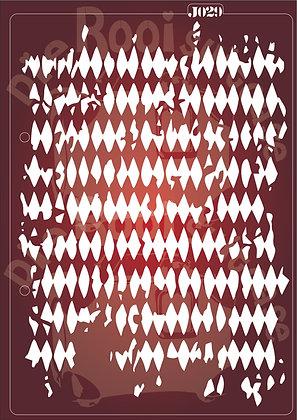 J029 Alice Diamonds Journaling Stencil