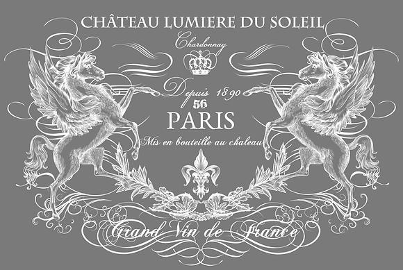 """Chateau Lumiere (White) - 86 X 55cm (34x22"""") Landscape (Solid Design)"""