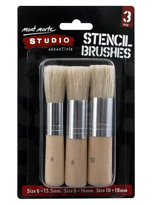 Stencil Brush Set Stubby