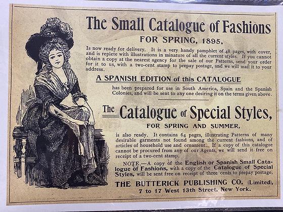 Spring Fashion Catelogue 1895