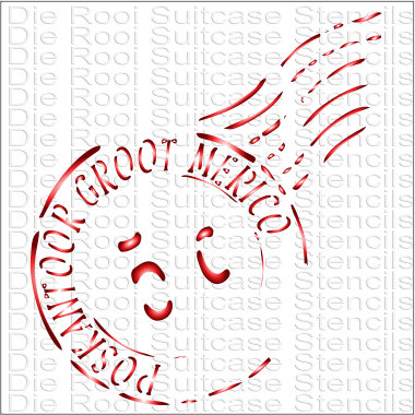 Groot Merico Stamp 10x10cm