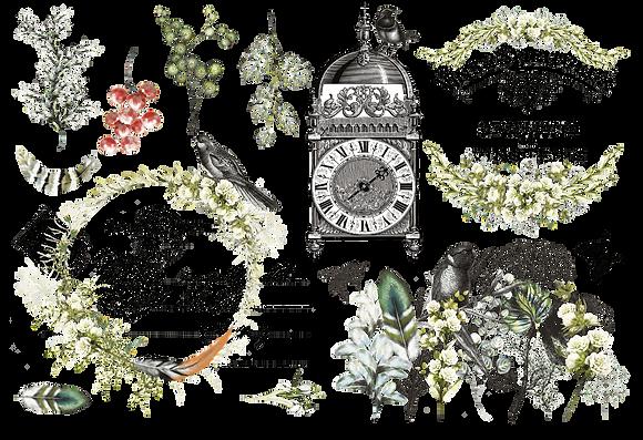 "L'horloge - 89x59cm (35x23"") Portrait (Cuttable Design)"
