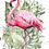 """Thumbnail: Flamant Rose - 28x40cm (11x16"""") Portrait (Solid Design)"""