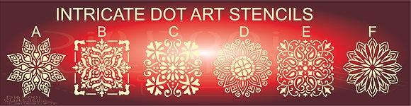 Intricate Dot Art Stencils