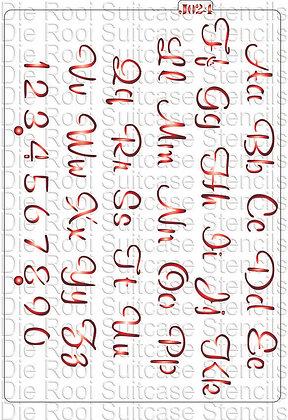 J024 Script Font