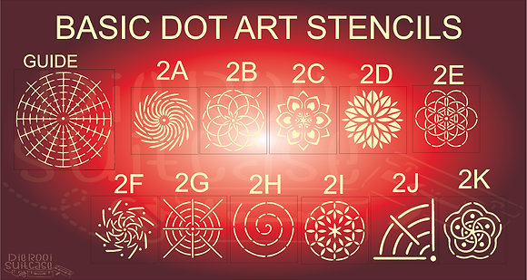 Basic Dot Art Stencils