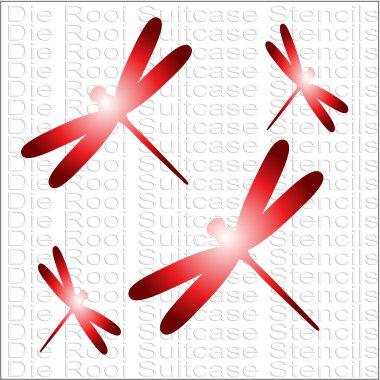 Dragonflies 10x10cm
