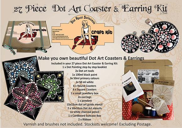 Dot Art Coaster & Earring Kit