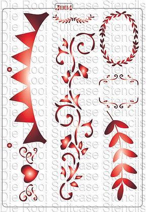 J004 Bunting & Floral Frame
