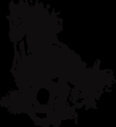 """Majestic Horse (Charcoal) - 57x63cm (23x25"""") Portrait (Solid Design)"""