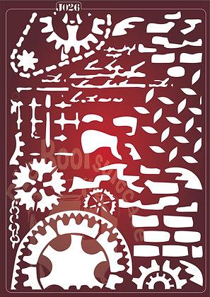J026 Steampunk Journaling Stencil