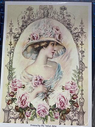 Framed Edwardian Lady
