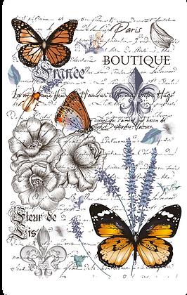 """Papillon - 58x86cm (23x34"""") Portrait (Solid Design)"""