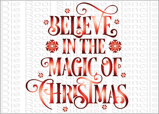 Believe in the magic of Christmas A6